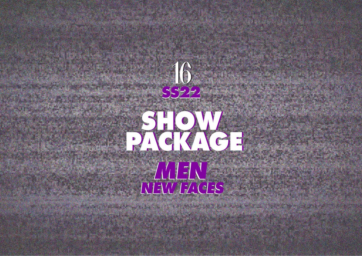 *PARIS SS22 - NEW FACE MEN