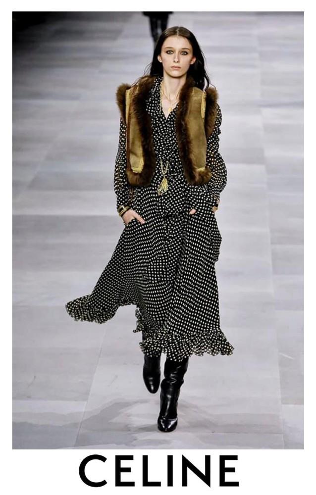 Marika Moskal DEBUT for CELINE RTW Spring Summer 2020 Paris Fashion Week