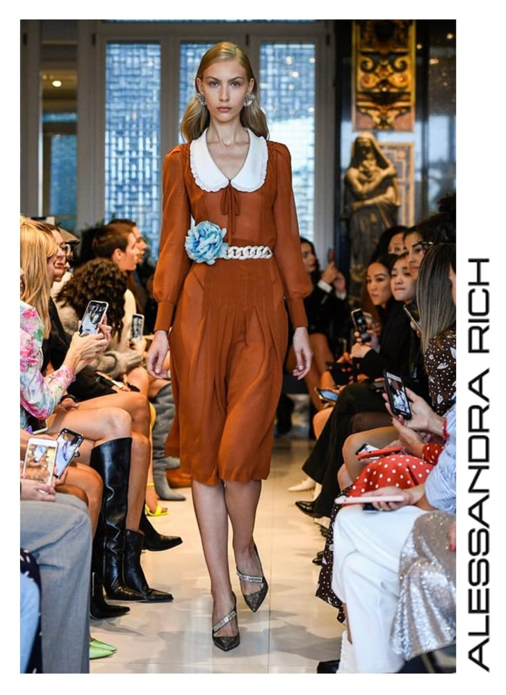 Victoria Lobay for ALESSANDRA RICH RTW Spring Summer 2020 Paris Fashion Week