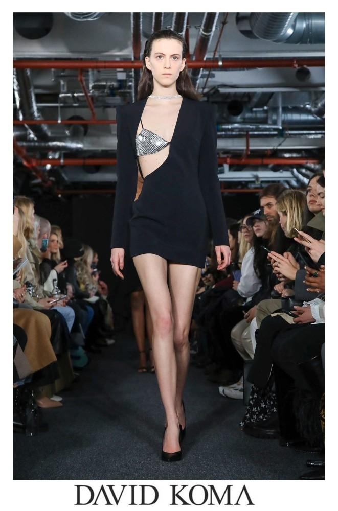 Emma Leveilley for DAVID KOMA RTW F/W 2020 London Fashion Week
