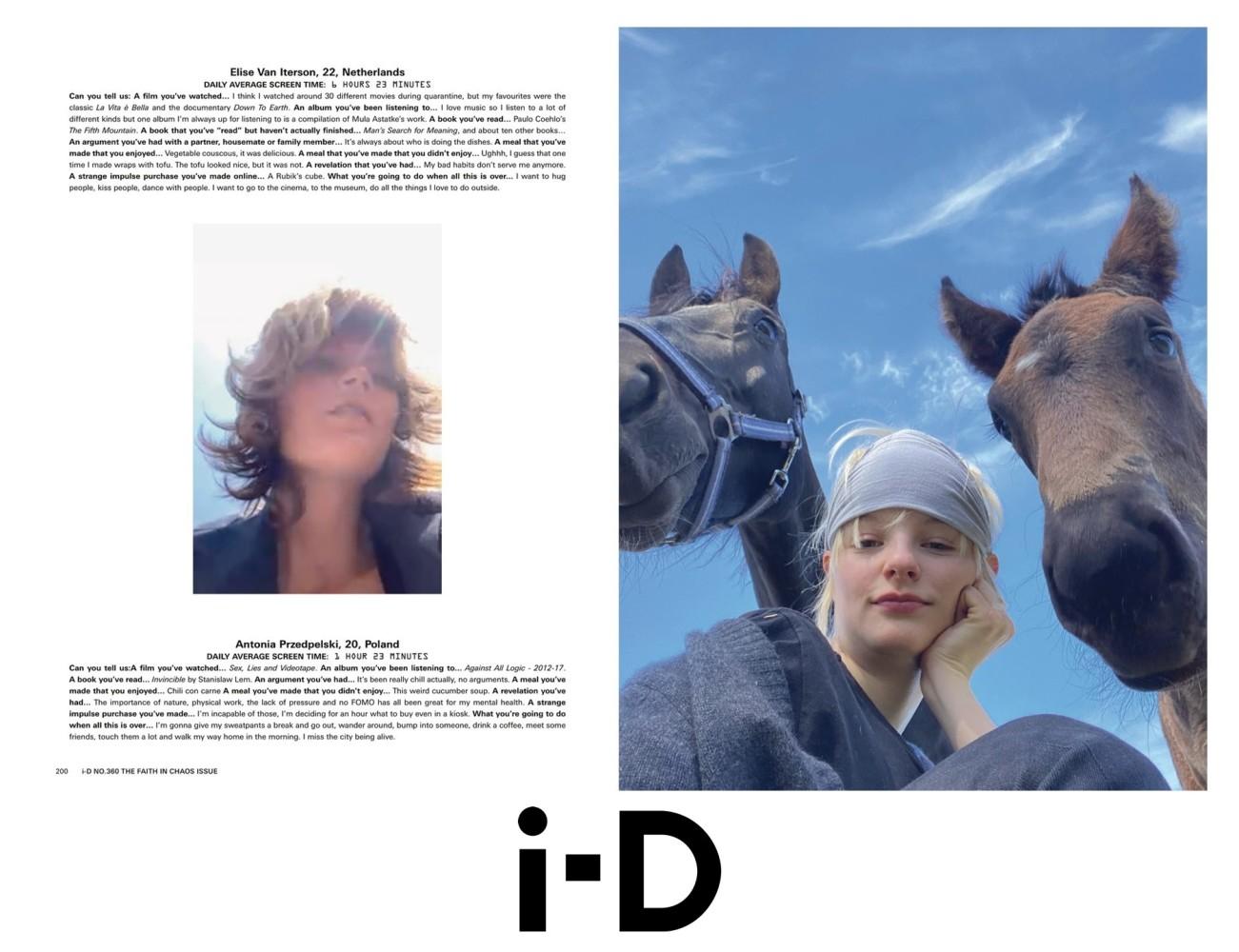Antonia Przedpelski for i-D Magazine Summer 2020 Issue