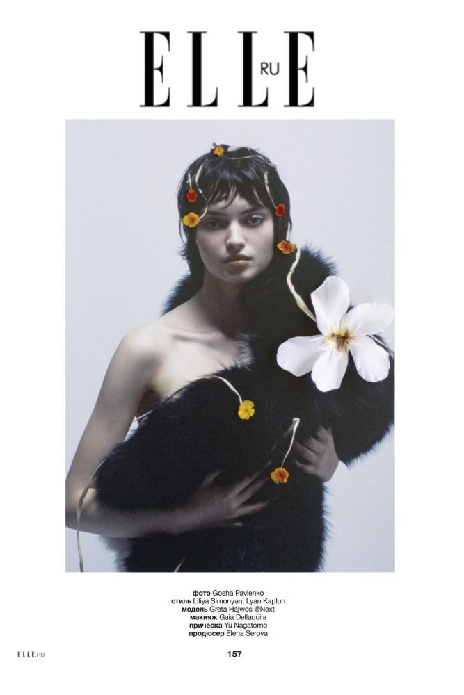 Greta Hajwos by Gosha Pavlenko for ELLE Russia, September 2020