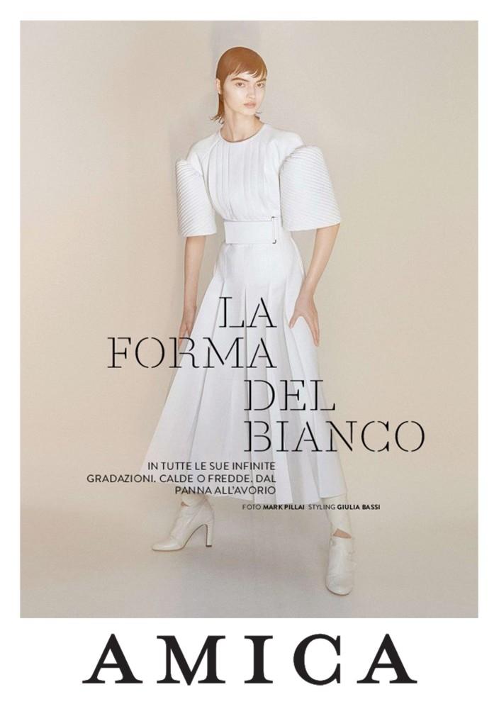Greta Hajwos by Mark Pillai for AMICA Magazine, October 2020 Milan