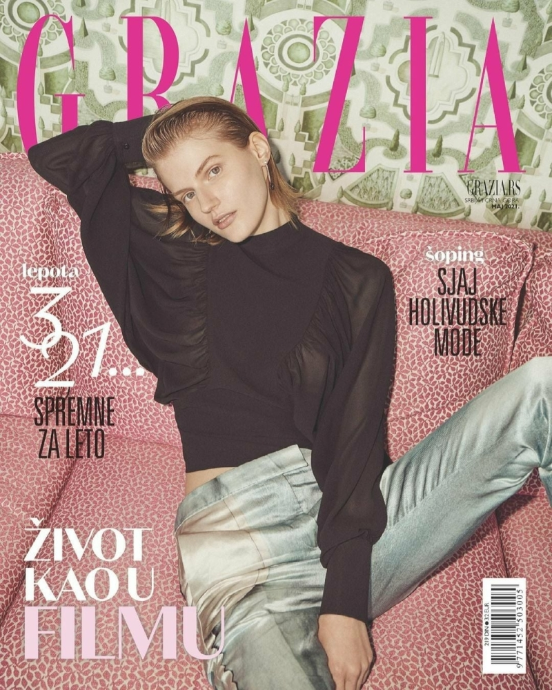 Ireen Tabolova on the cover of GRAZIA Serbia, May 2021