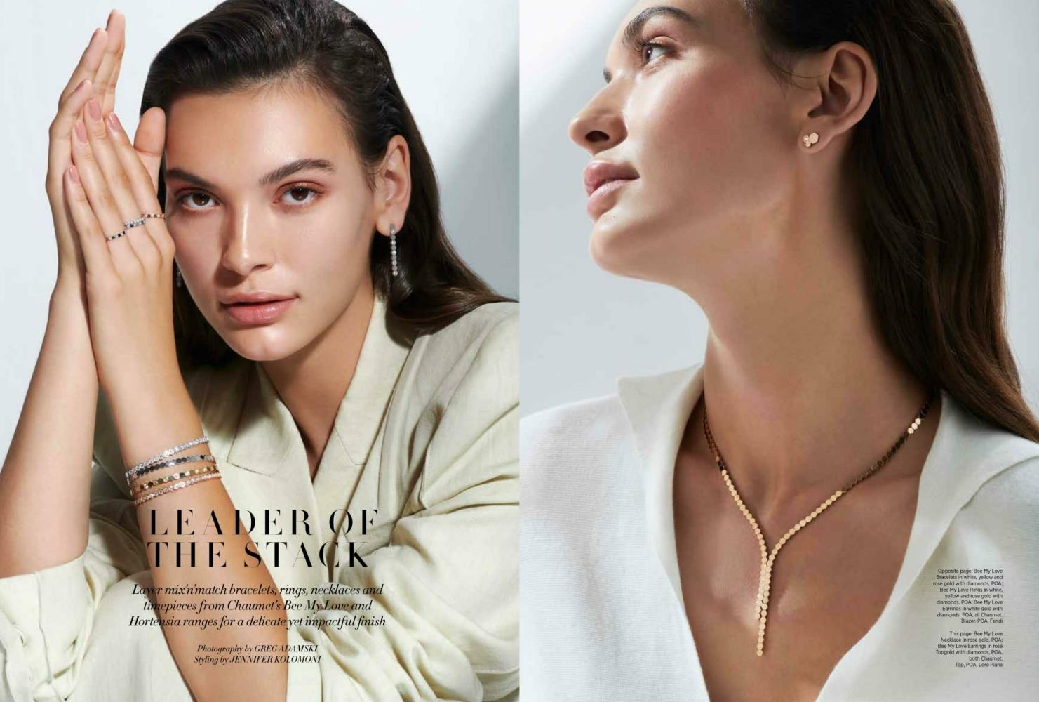 Nastya Nochnaya for Harpers Bazaar Arabia August 21