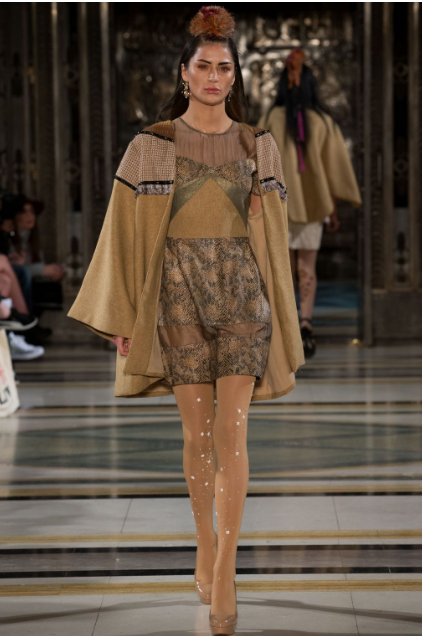 Sandy walks for Happy Andrada at London Fashion Week AW17
