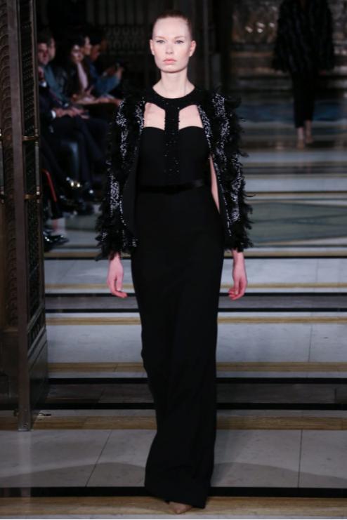 Jenni walks for Barrus at London Fashion Week AW17