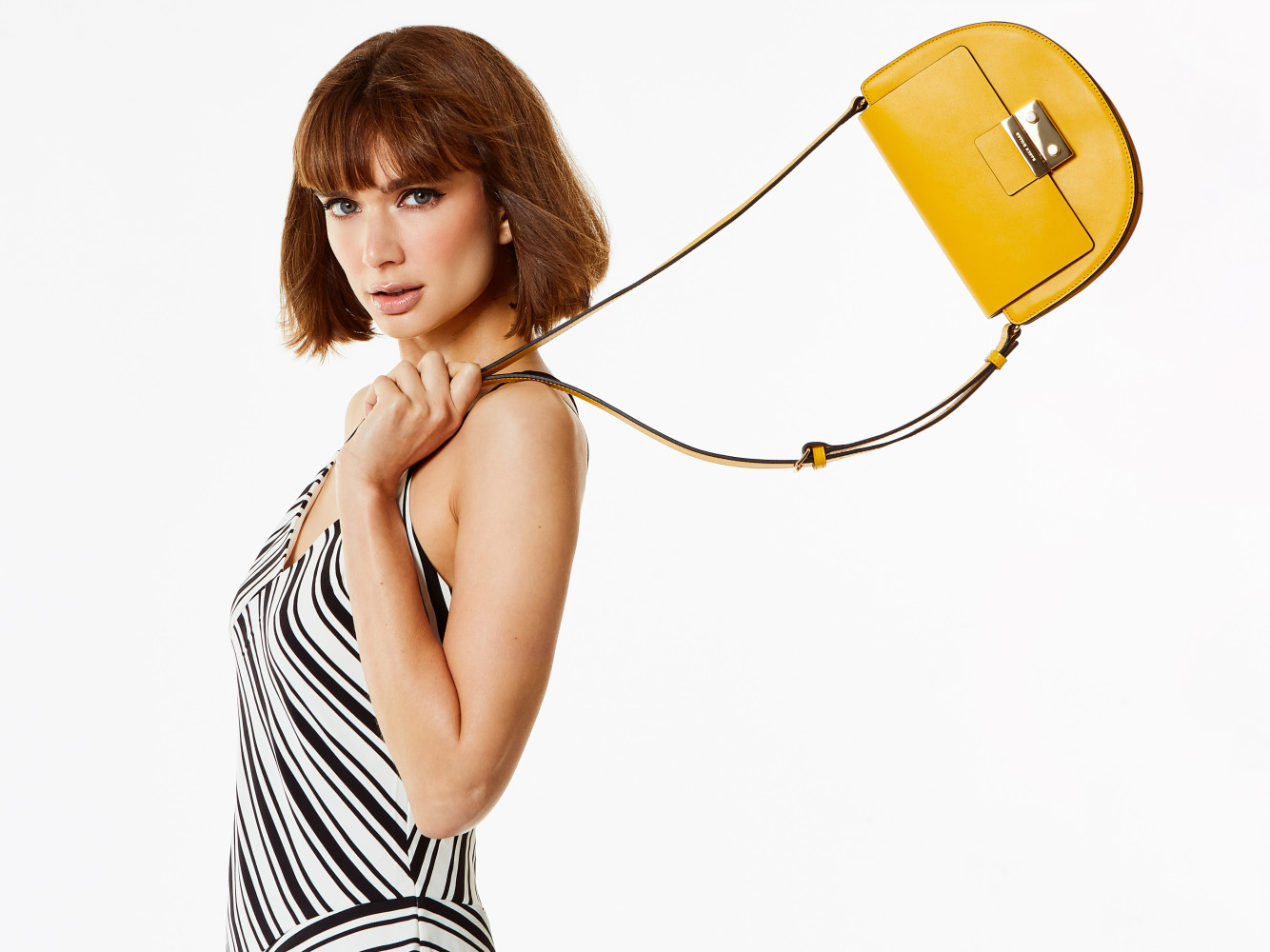 Rebecca in a new campaign for Karen Millen