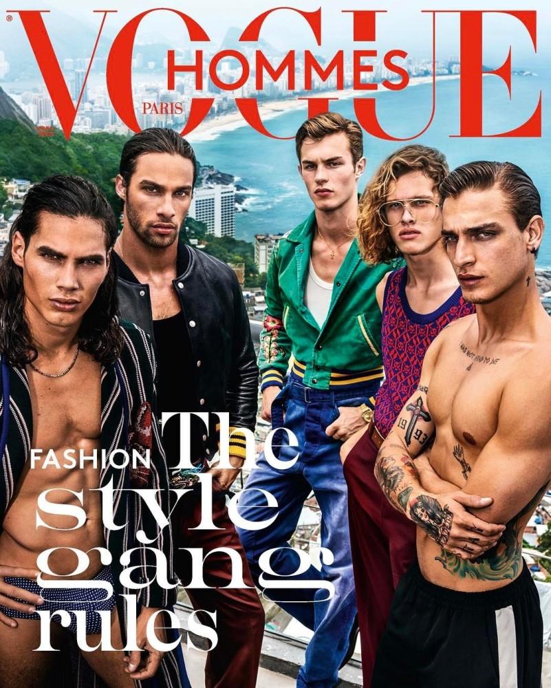 VOGUE HOMME PARIS COVER