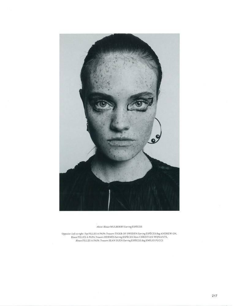 Anne-Sophie DE-VILLEROY For Violet Magazine