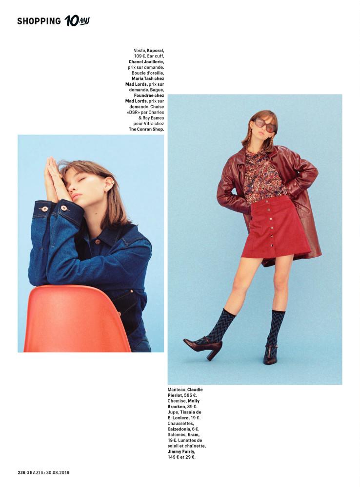 Anna Lisa for Grazia Magazine 10 years