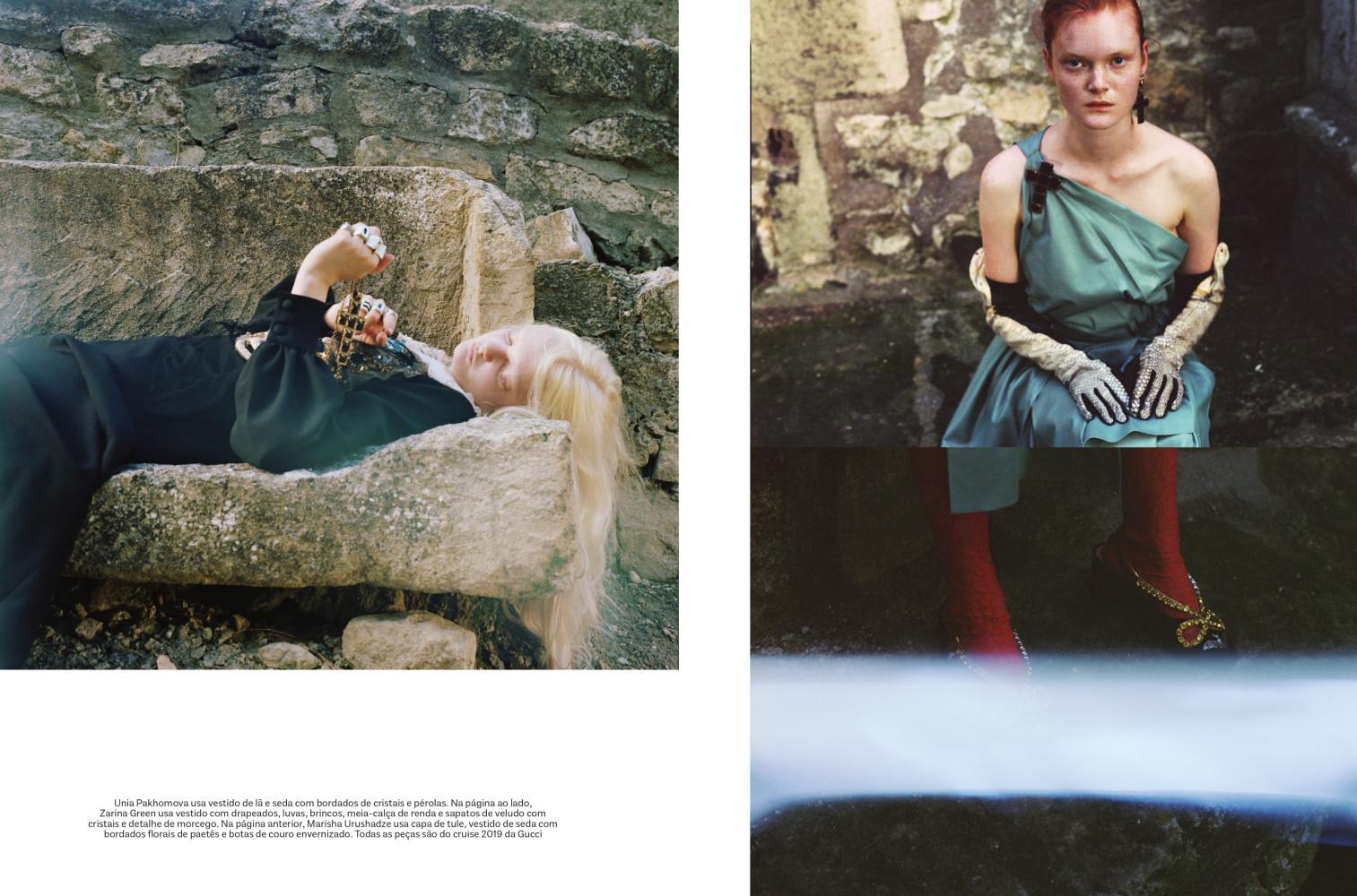 Unia Pakhomova for Vogue brazil