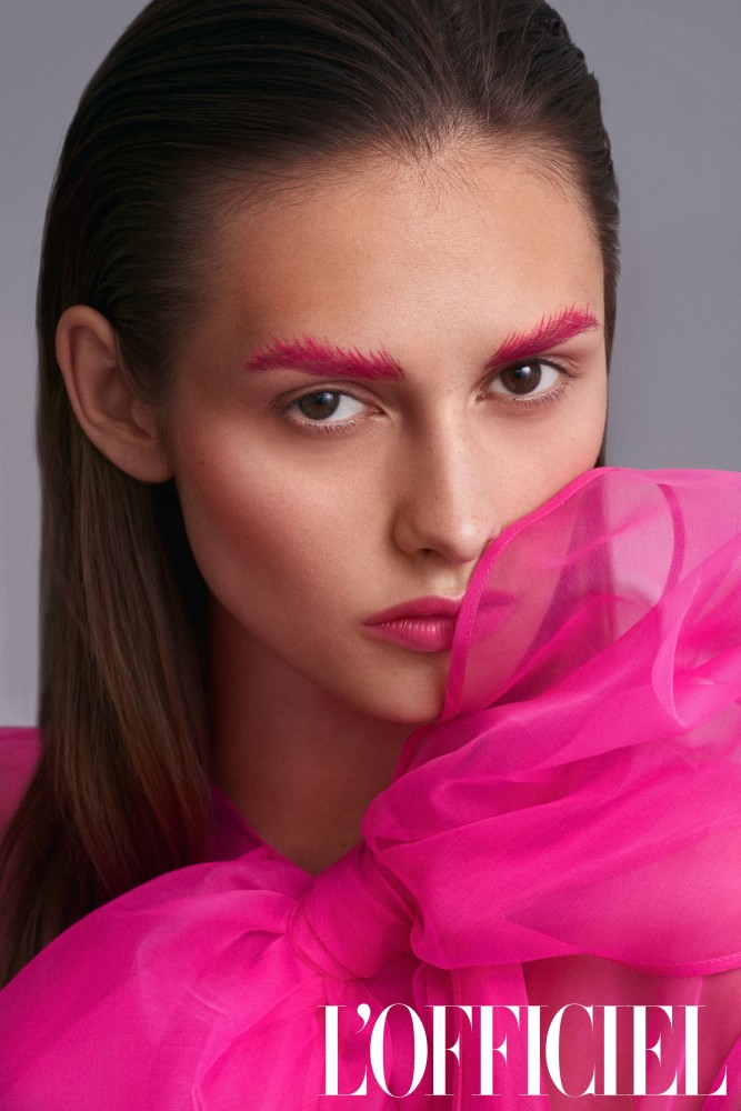 KARINA M FOR POWER OF PINK L'OFFICIEL BY JUERGEN LENHARDT