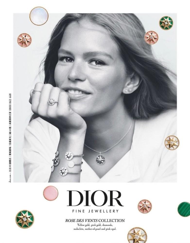 Anna Ewers   Dior 'Rose de Vents' Collection   by Alasdair McLellan