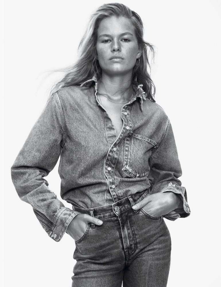 Anna Ewers   VOGUE Paris Blue Jeans March 2019   by David Sims