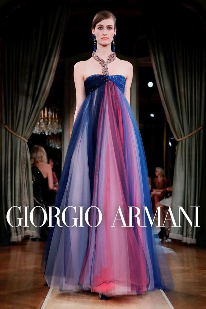 Giorgio Armani Privé Couture Fall Winter 2018 | Paris Fashion Week