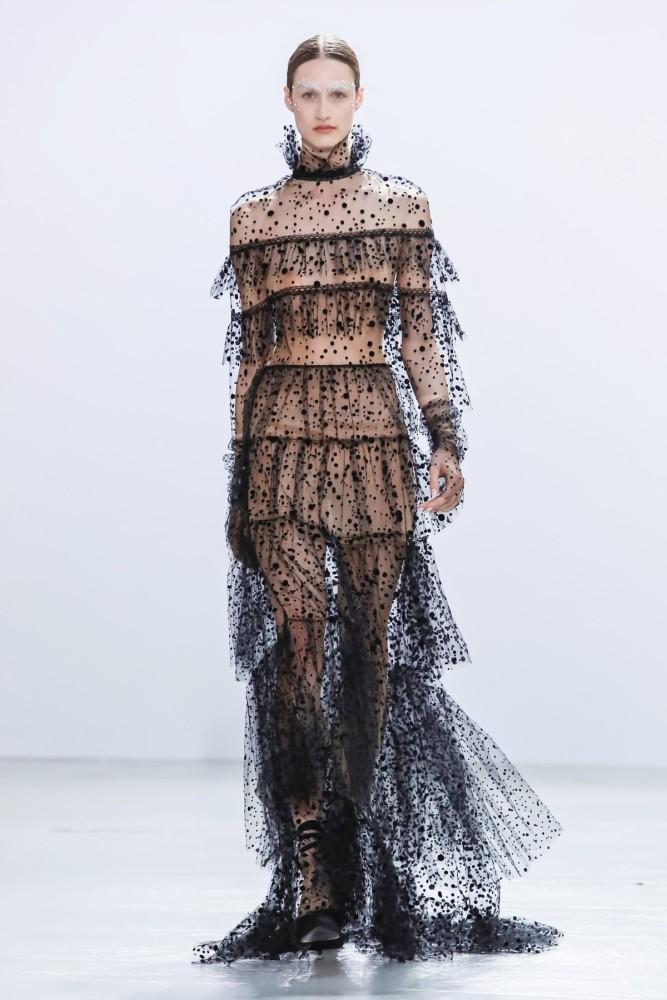 Timea Birkner | Celia Kritharioti Couture Fall Winter 2019 | Paris Fashion Week