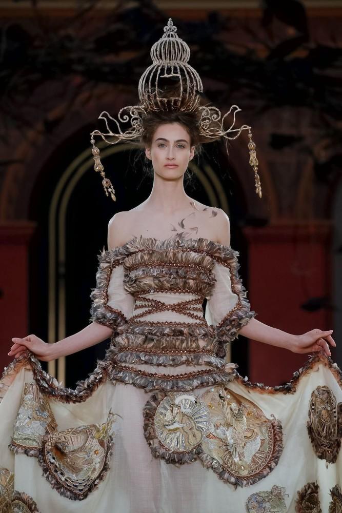 Timea Birkner | Guo Pei Couture Fall Winter 2019 | Paris Fashion Week