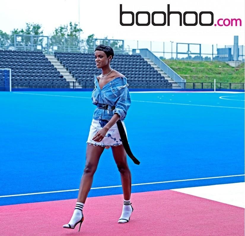 Tenika shoots for Boo Hoo