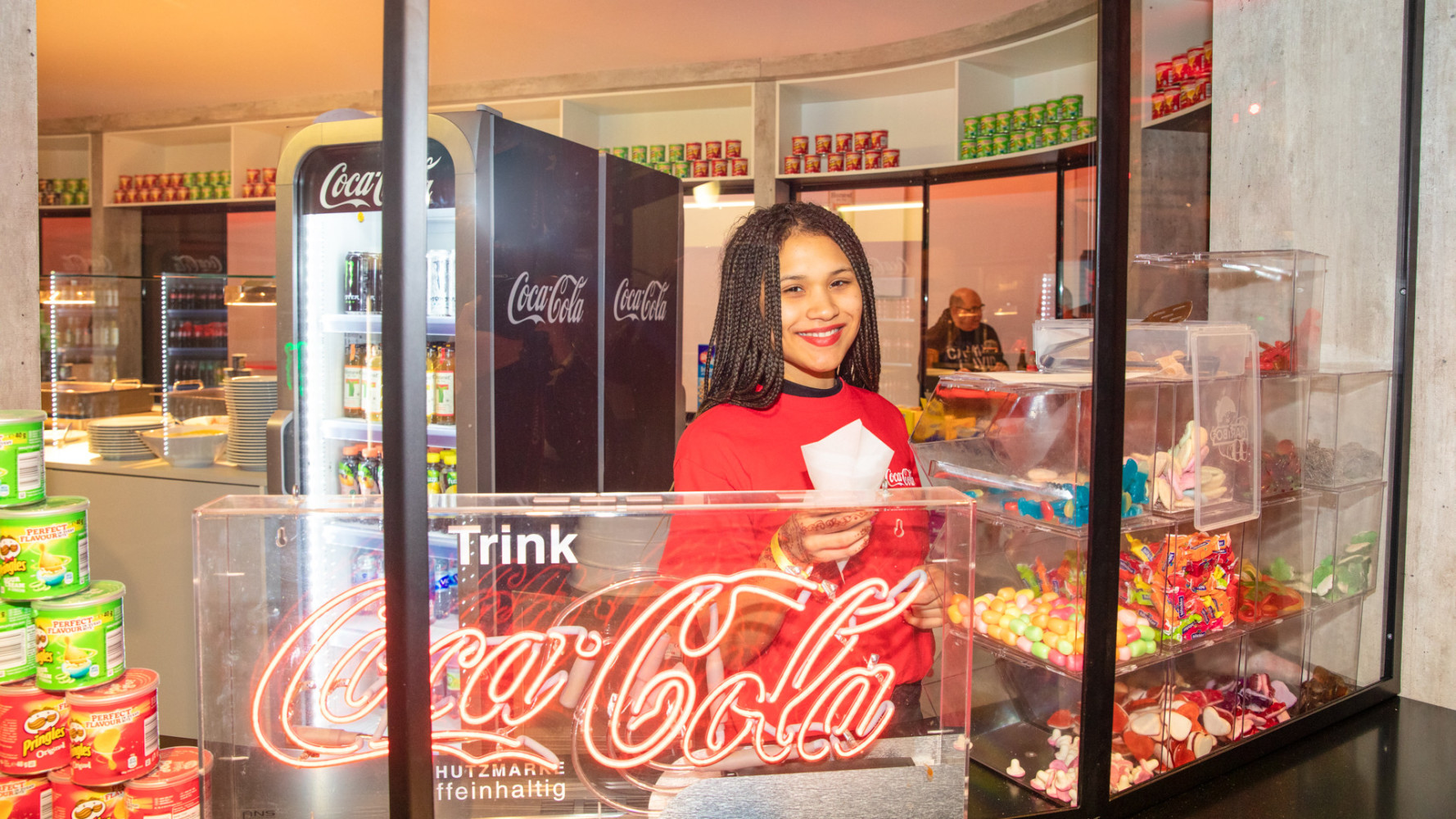 Fleek Management provides 100 hostesses and hosts for Coca-Cola