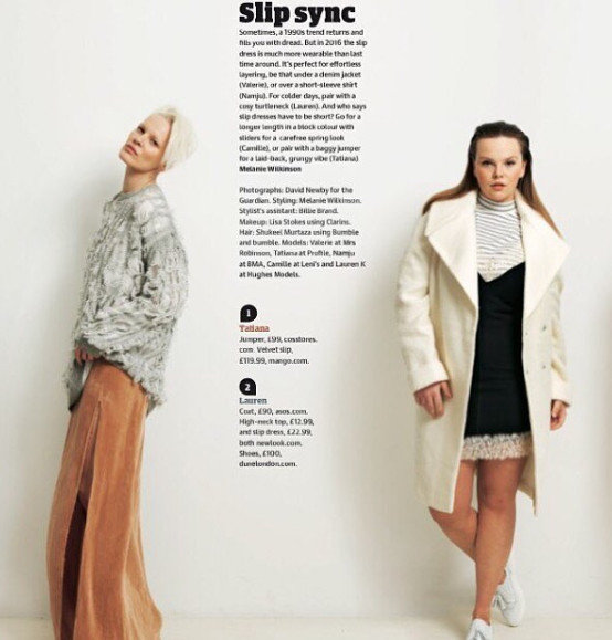 Curve-model-Lauren-K-shooting-for-The-Guardian-fashion-edition-magazine-Top-London-modelling-agency-IMM