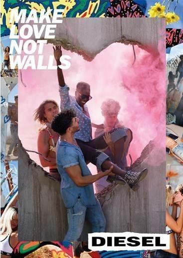 Diesel-SS17-campaign-Make-Love-Not-Walls-Political-advert-david-LaChapelle-photographer