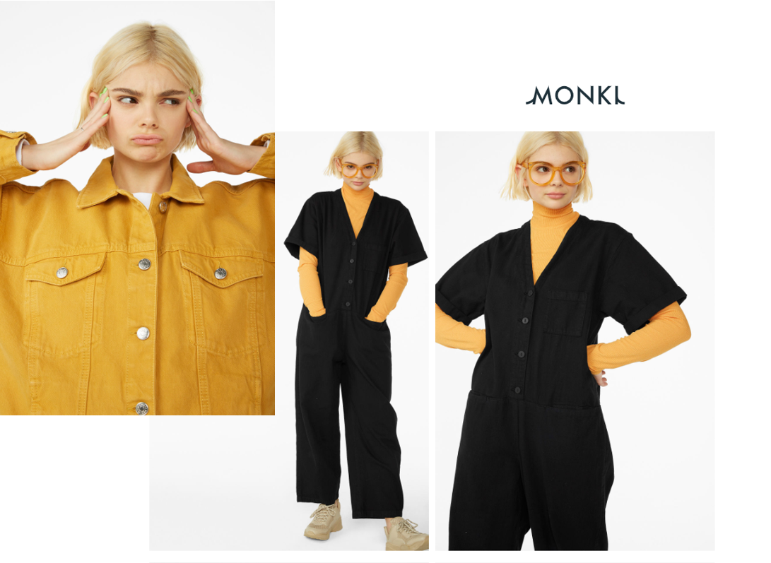Monki boilersuit - yellow polo