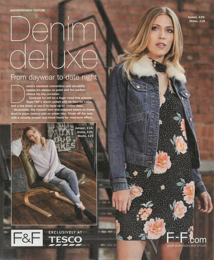 fashion-model-Moon-OK-magazine-Denim-shoot-tesco-F&F-ecommerce