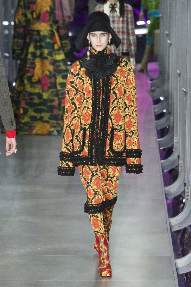 Alexia Bellini walks for Gucci and Diesel at Milan Fashion Week
