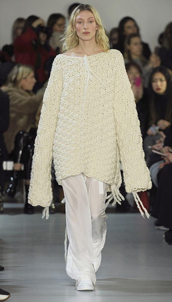 Maggie Maurer walks at London Fashion Week
