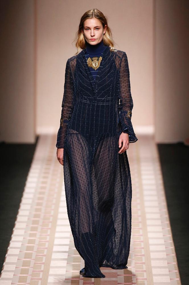 Nadja Bender & Vera Van Erp walks for Trussardi at Milan Fashion Week