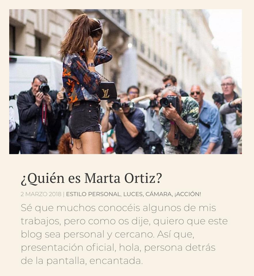 MARTA ORTIZ releases her new blog matizlifestyle.com