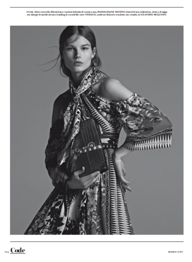 ADELA STENBERG for Vogue Italy by Mariana Maltoni