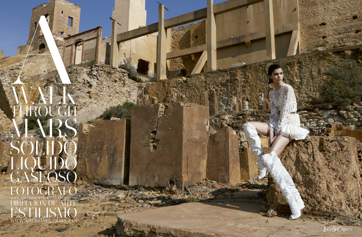 MARIA PARR for Lucia se casa magazine by Antonio Cordero