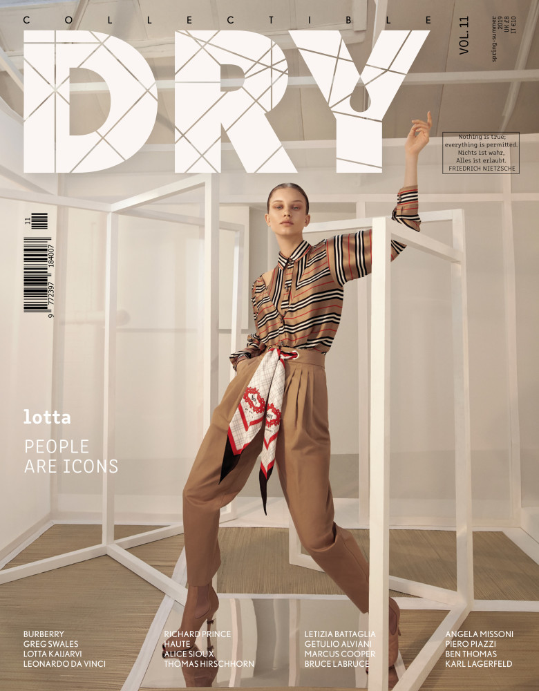 LOTTA for Collective Dry magazine Issue 11 //Burberry exclusive by  Greg Swales