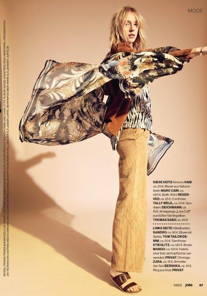 FRANZI FRINGS for Jolie Magazine by Nadia Del Do