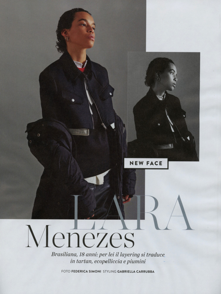 LARA MENEZES for Amica magazine by Federica Simoni