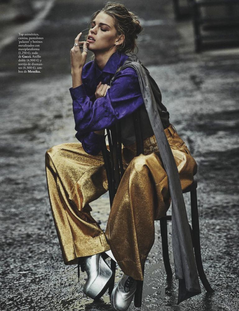 KIM RIEKENBERG for Elle Spain by Mario Sierra