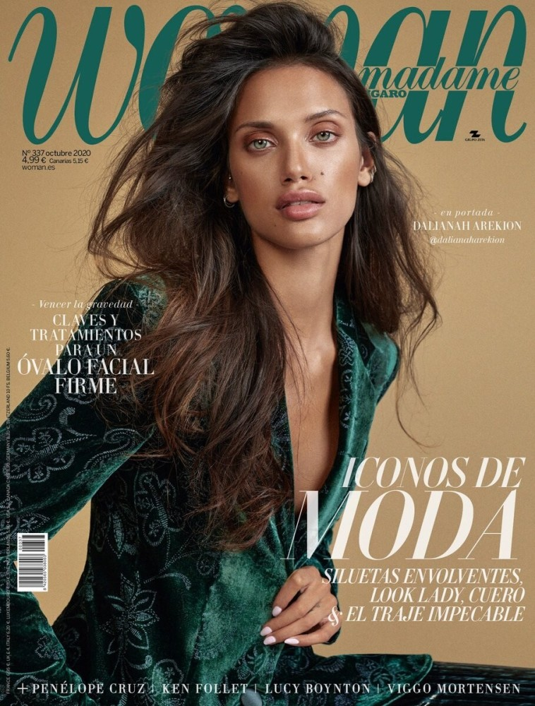 DALIANAH AREKION FEATURE IN THE  COVER OF WOMAN MADAME FIGARO