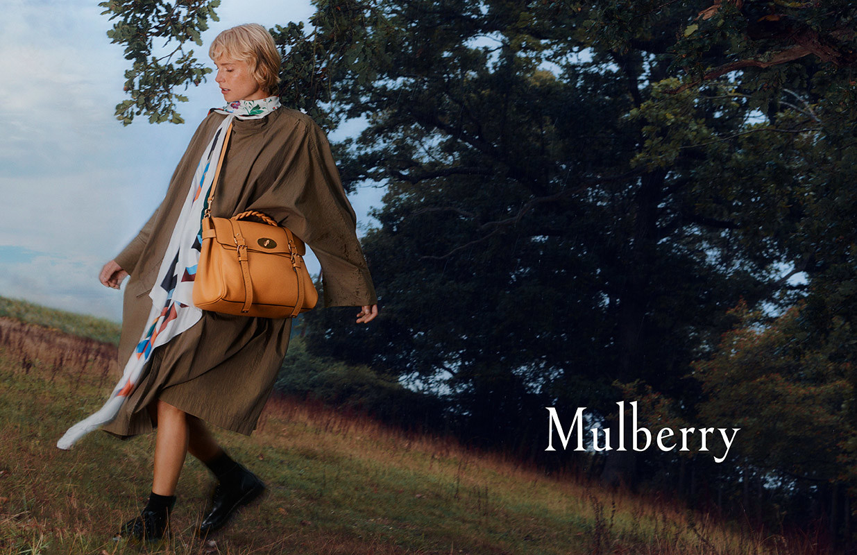 Steffi Cook  for Mulberry Campaign AW 20-21  by  Francesco Nazardo