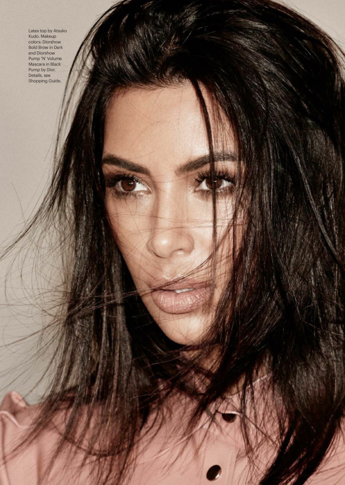 Rica Romain for the cover of ALLURE x KIM KARDASHIAN