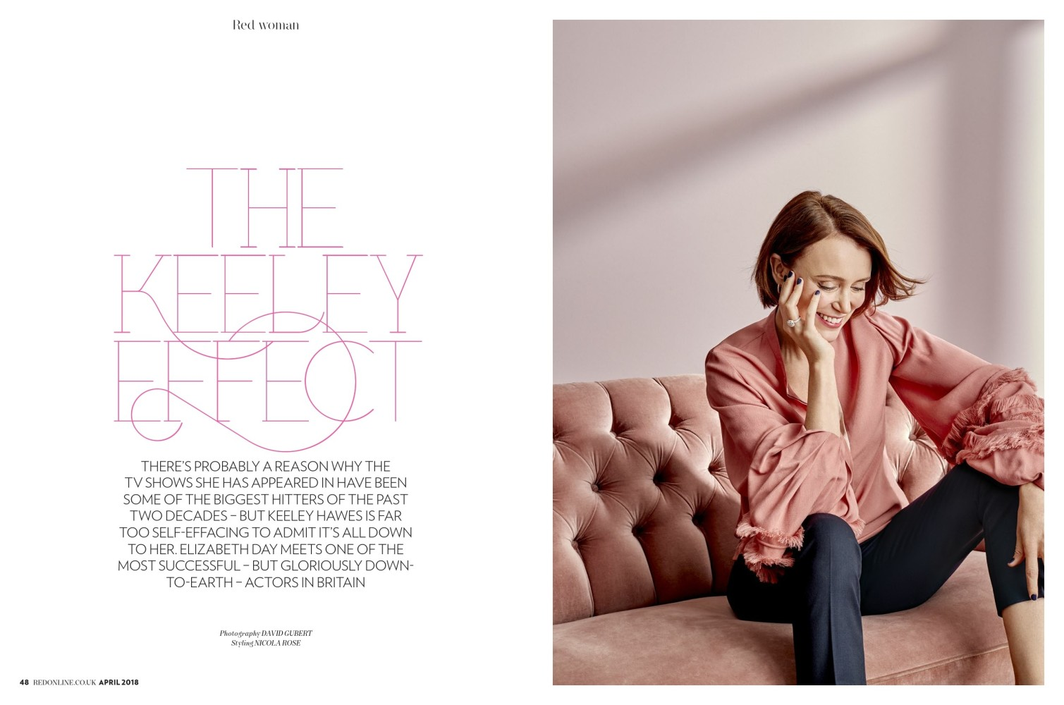 Ami Streets for RED MAGAZINE X KEELEY HAWES APRIL 2018