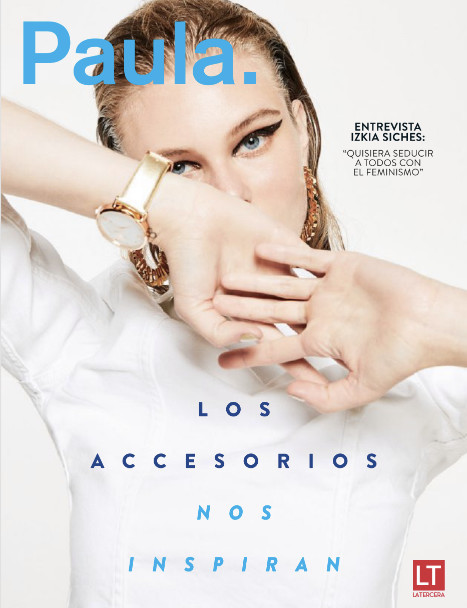 Dominika K. on the cover of Revista Paula, October 2018
