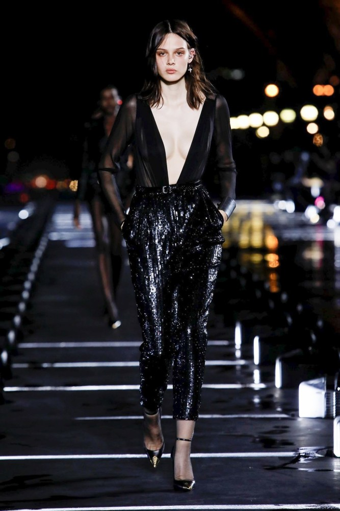 MAG CYSEWSKA FOR SAINT LAURENT SS 2020 AT PARIS FASHION  WEEK