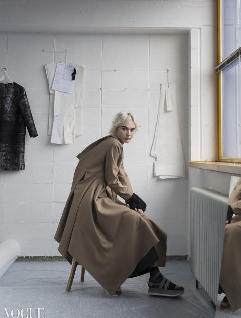 Maja B. on Vogue Italia online