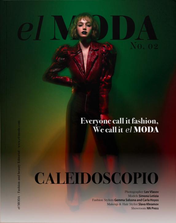 Simona on cover of El Moda