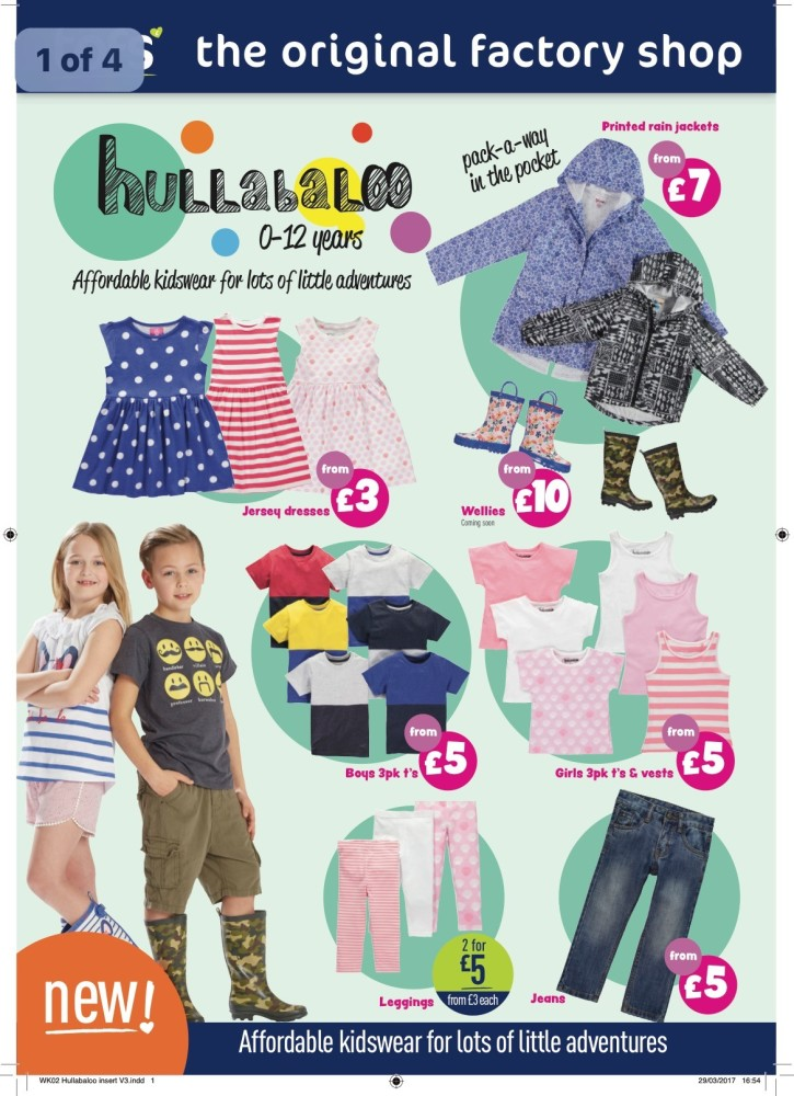 The Original Factory Shop Launches It's Hullabaloo Kids Clothing Range