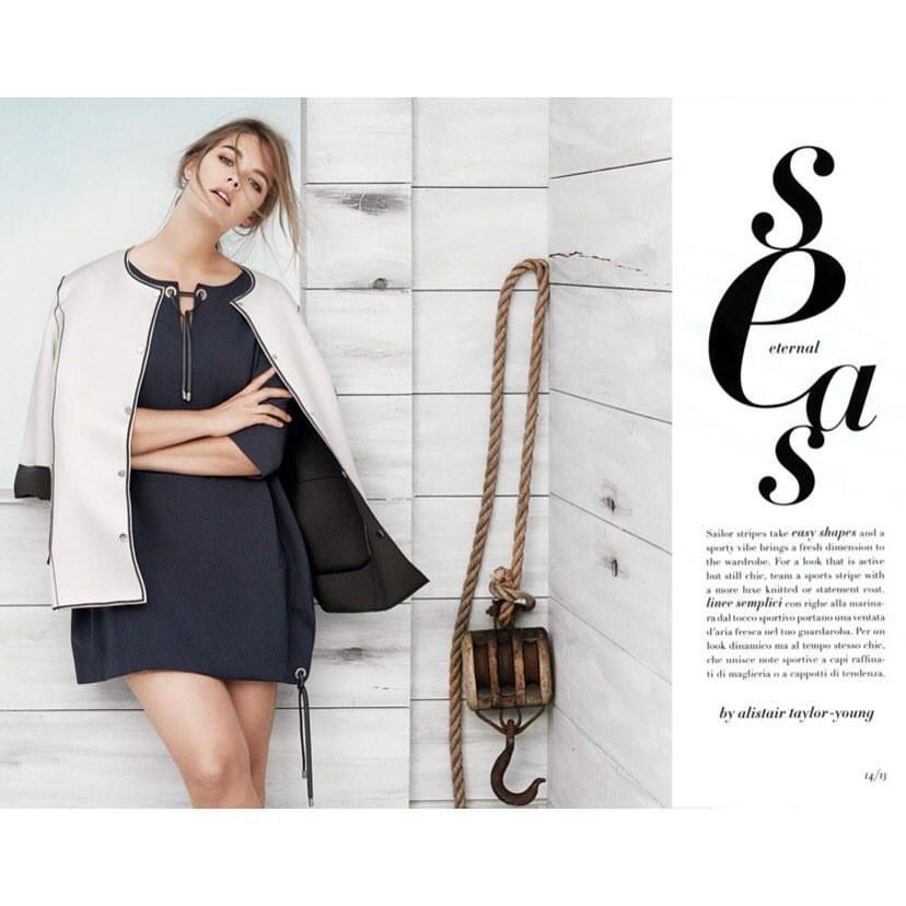 Christine Sophie Johannsen for Marina Rinaldi SS17 - Eternal Seas