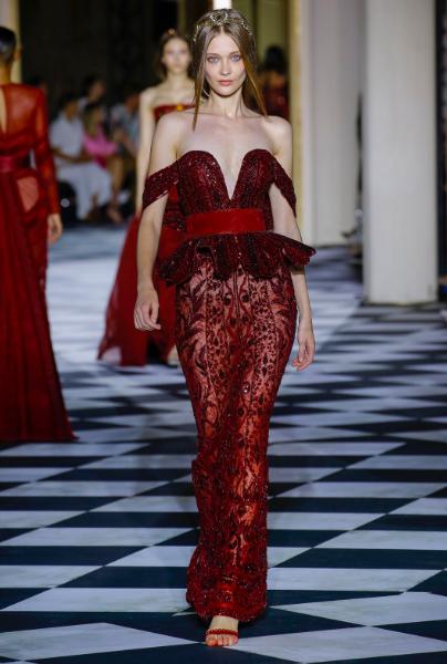 Tanya Katysheva for Zuhair Murad for Zuhair Murad Haute Couture F/W 2018
