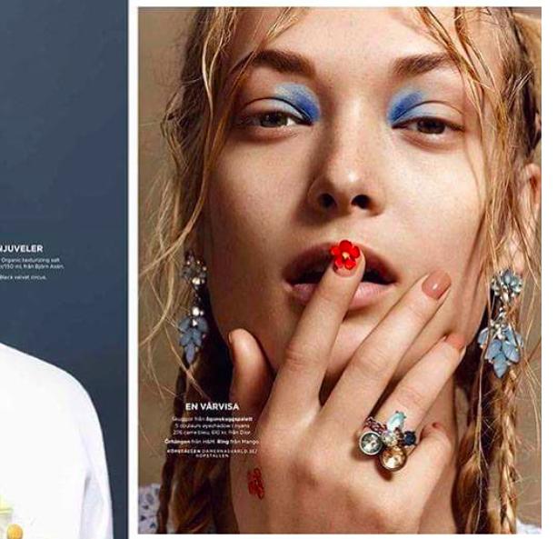 Egle Jezepcikaite in Beauty Editorial